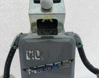 Mr. Morse- Man Robot Assemblage- Junk Art