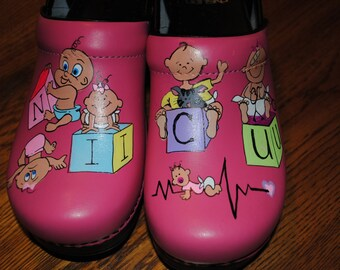 New Pink Dansko customer supplied the shoes new designs NICU NURSE w/ babies out of control... not for sale