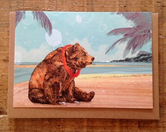 Beach Bear // Greeting Card
