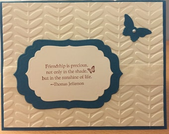 Friendship is precious/Blank card