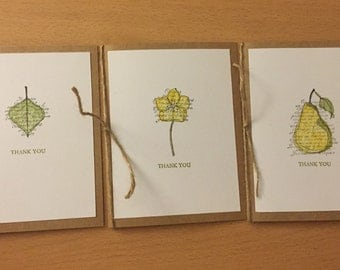 Faith in Nature Thank You Cards/Set of 3