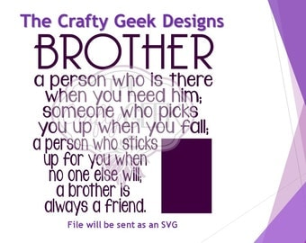 Brother Picture Frame SVG File