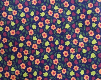Purple Flowers - Rico cotton - Quilting weight cotton fabric