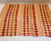 Vintage 5 Placemats Rag Rug Hand Woven Cotton Farmhouse Decor Burnt Orange Red Place Mats