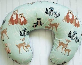 Woodland Animals Nursing Pillow Cover, Hello Meadow