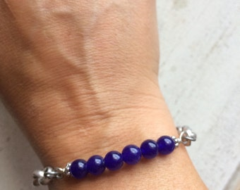 Cobalt Blue Beaded Stacking Bracelet