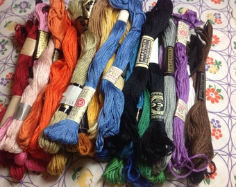 50 Skeins Embroidery Floss in various colors as shown and EmbroideryFloss Advertising