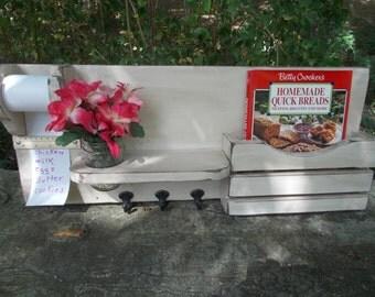 Kitchen Organizer--Note Pad--Cookbook Holder--Mason Jar Holder--Kitchen Decor