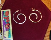 Silver Hoop Tribal Earrings