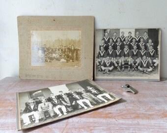 VIntage Collection of 3 Photographs - Sportsmen/Teams