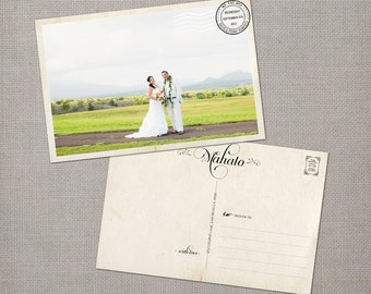 """Photo wedding thank you cards - Mahalo - thank you cards - the """"Penny"""""""