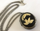 """Cameo Locket Stash Box - Lily of the Valley - 38"""" Chain"""