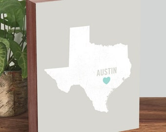Austin Texas Wall Art - Austin Texas Map - Austin Texas Art - Austin Texas Print