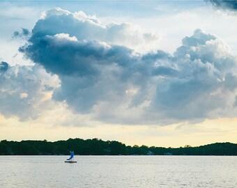 "Nautical Decor, Lake Photography, Nature Photography, Art,  Photography Print, Summer Clouds, Pale Blue Wall Decor, Coastal, ""Lake Effect"""
