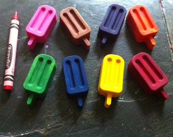 Popsicle crayons