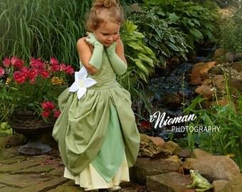 Princess Tiana inspired lily pad dress - Princess and the Frog Costume - Princess Tiana costume - Made to Measure Disney dress