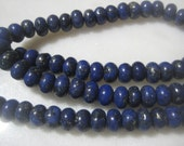 "Blue Jasper Rondelles, Small Semi-Precious Gemstone Donut Spacer Beads, 8x5mm, 80 pcs., One 15 3/4"" Strand"