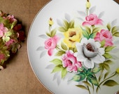 Shabby Cottage Roses Decorative Plate. Display China. Floral Wall Hanging. Romantic Decor. Home Accessory.