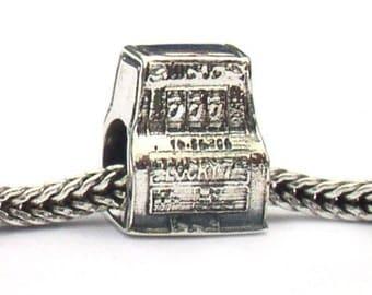 Sterling Silver Slot Machine Landmark Charm Beads LM061