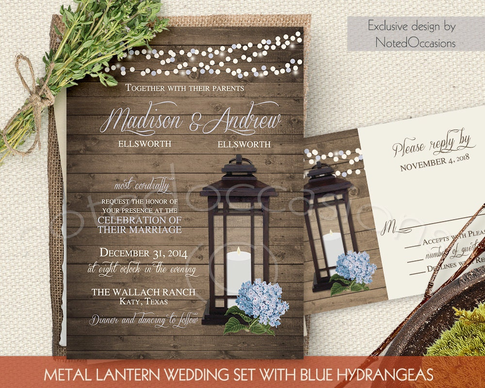 Country Rustic Wedding Invitations: Chandeliers & Pendant Lights