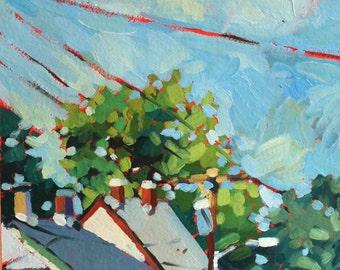 Original Oil Painting - Ellicott City Maryland Street