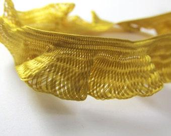 Harvest Gold Ruffled Braid half inch Decorator or Costume Trim
