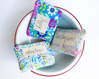 Personalized Cosmetic Bags, Set of 3 Bridesmaid Gifts, Custom Made Gift Set for Bridal Party in you Choice of Colors MADE TO ORDER