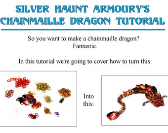 Silver Haunt Armoury's Chainmaille Dragon Tutorial PDF - by Brittany Ward/Seren Fey