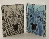Zebra Cards - Two Card Set - Blank Inside - Monkey Brains Design