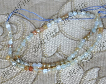 Single 4mm Faceted agate round stone beads, gemstone Beads ,agate stone beads loose strands,agate beads findings