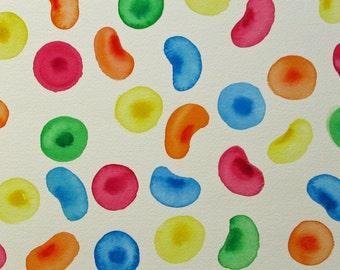 Unicorn Blood Cells 4 - original watercolor painting