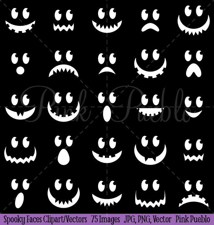 Spooky Faces Halloween Clipart Clip Art Halloween Ghost or