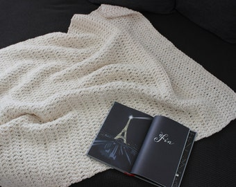 Nantucket Afghan Knitting Pattern : Chunky Knit Afghan // THE NANTUCKET Throw Blanket by ...