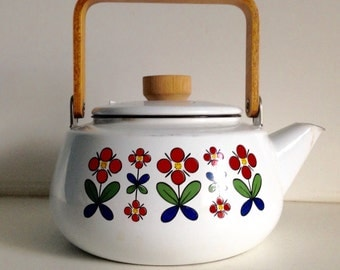Danish Modern Enamel Teapot