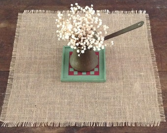 Rustic Wedding Burlap Table Square Shabby Chic Jute Special Occasion Table Overlay