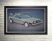 Back to the Future Poster BTTF Art Print