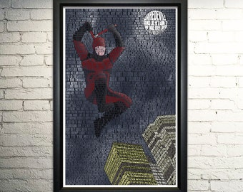 Daredevil word art print - 11x17""