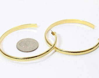 """Large Gold 2.5"""" Hoops"""