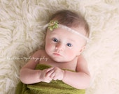Stretch Knit Baby Wrap Photo Prop Green