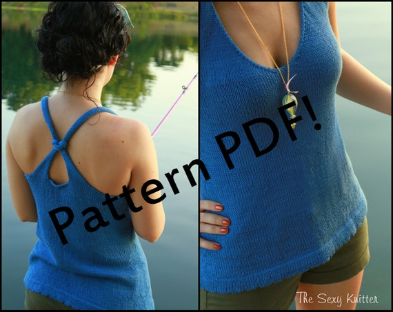 Reef Knot Tank Top: PDF Knitting Pattern by The Sexy Knitter