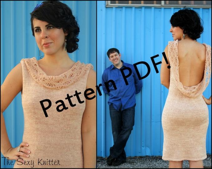 Principesa Backless Knit Dress Pattern: PDF Knitting Pattern by The Sexy Knitter