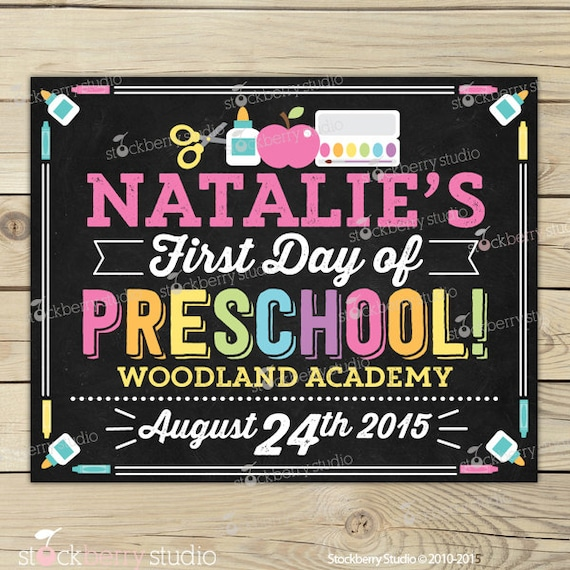 This is a picture of Bewitching First Day of Preschool Printable