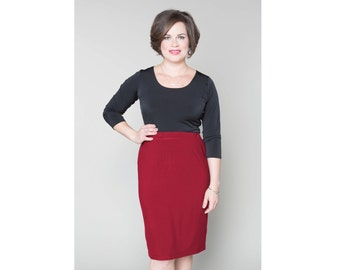Straight Skirt Matte Jersey 4 Lengths Sizes 2-28