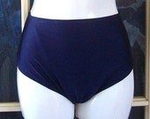 High waisted swim bottom with side panels