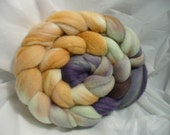 Spinning Roving Hand dyed Multicolor Merino Top Wool Fiber 19.5 Micron, 4 ounces Sweet DReams