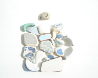 Seaham Sea pottery collection - 80g in total - E1454 - from Seaham beach, UK