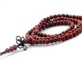 5mm 108 Rosewood Beads Tibetan Buddhist Buddha Prayer Stretchy Rosary Beaded Mala  ZZ157
