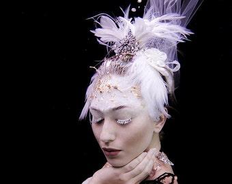 Vintage Inspired White Swan Bridal Tiara