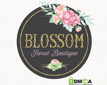 florist logo design chalkboard logo photography logo watercolor logo bespoke logo gold foil logo design flower logo design boutique logo