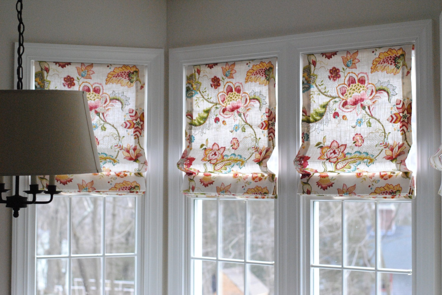 Fabric Blinds And Shades : Custom roman shades with your fabric